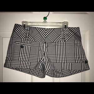 NEW Charlotte Russe Black & White Checkered Shorts